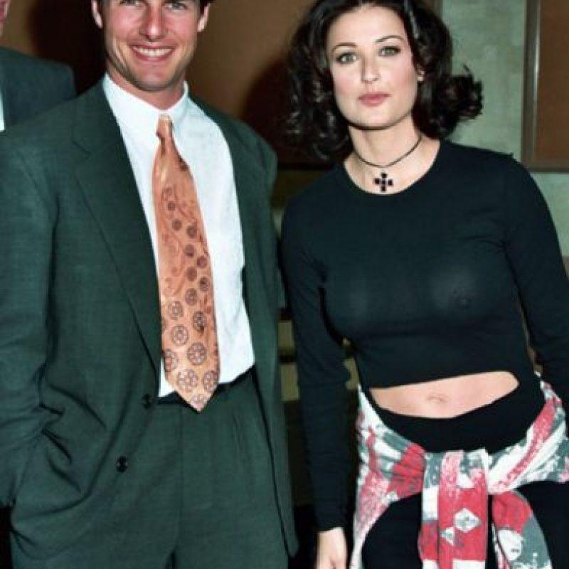 Demi Moore en una extraña foto con Tom Cruise. Foto:vía Getty Images