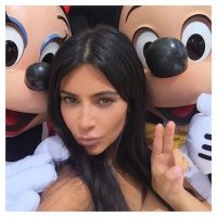 Mickey y Minnie Mouse Foto:Instagram.com/KimKardashian