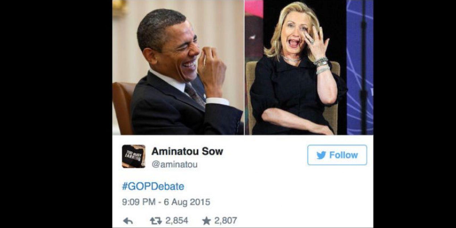 Sobre todo por hablar tanto de ella y de Obama. Foto:vía Twitter