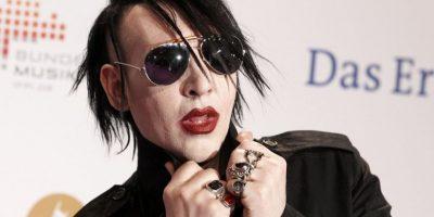 Esta vez reflejados en el multifacéntico estadounidense, Marilyn Manson. Foto:Getty Images