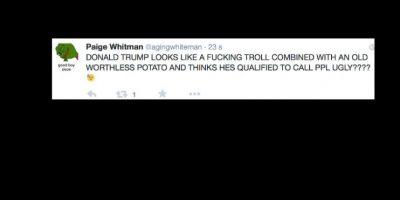 """""""Donald Trump es un maldito troll. Alguien que lo calle. """" Foto:vía Twitter"""