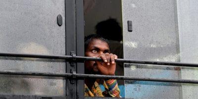 Hombre en India. Foto:AFP