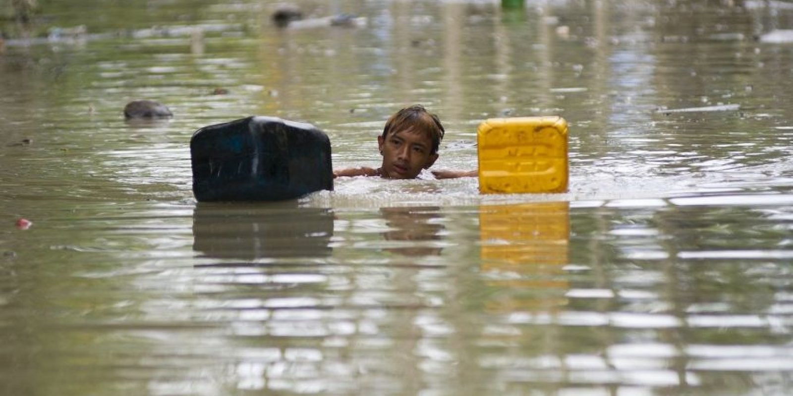 Inundaciones en Myanmar. Foto:AFP