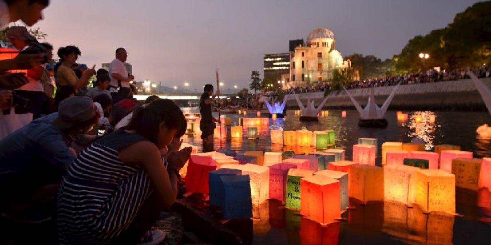 Recuerdan a los fallecidos tras la bomba en Hiroshima. Foto:AFP