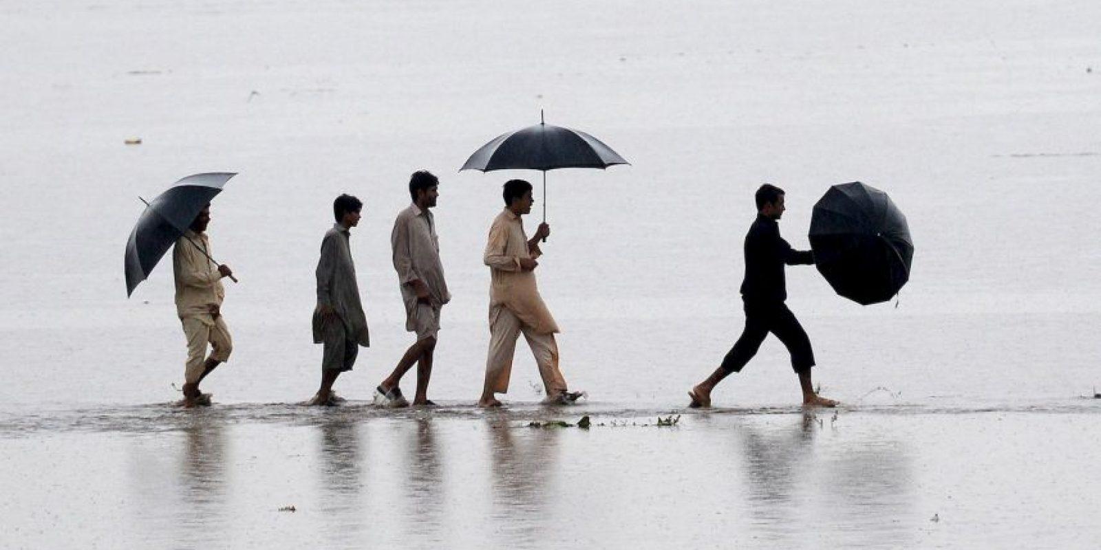 Inundación en Pakistán. Foto:AFP
