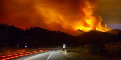 Fuegos forestales en California, Estados Unidos. Foto:AFP