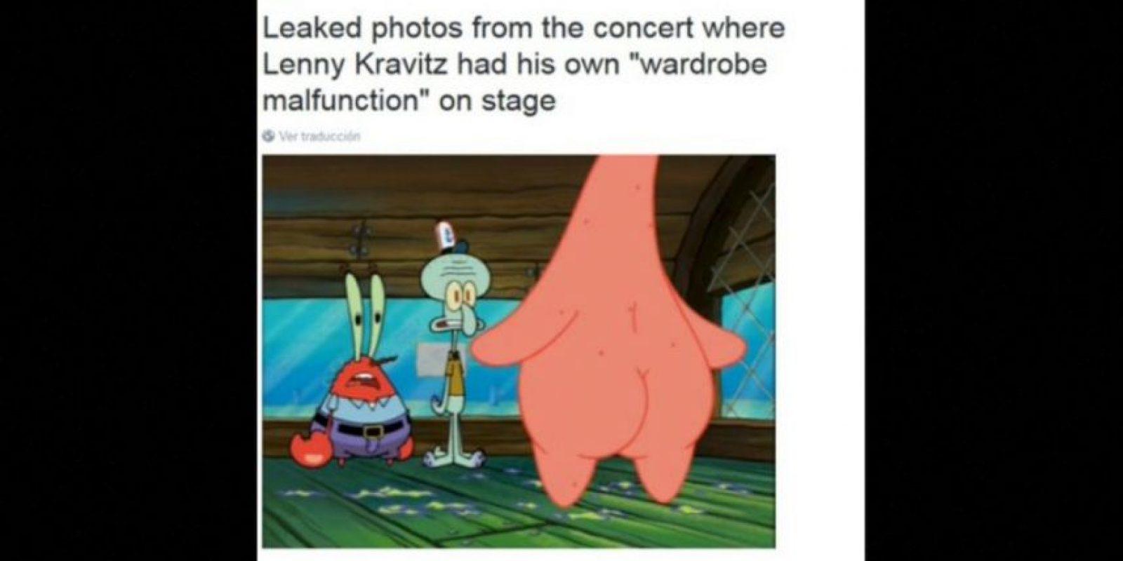 Los memes por el incidente de Lenny Kravitz Foto:vía twitter