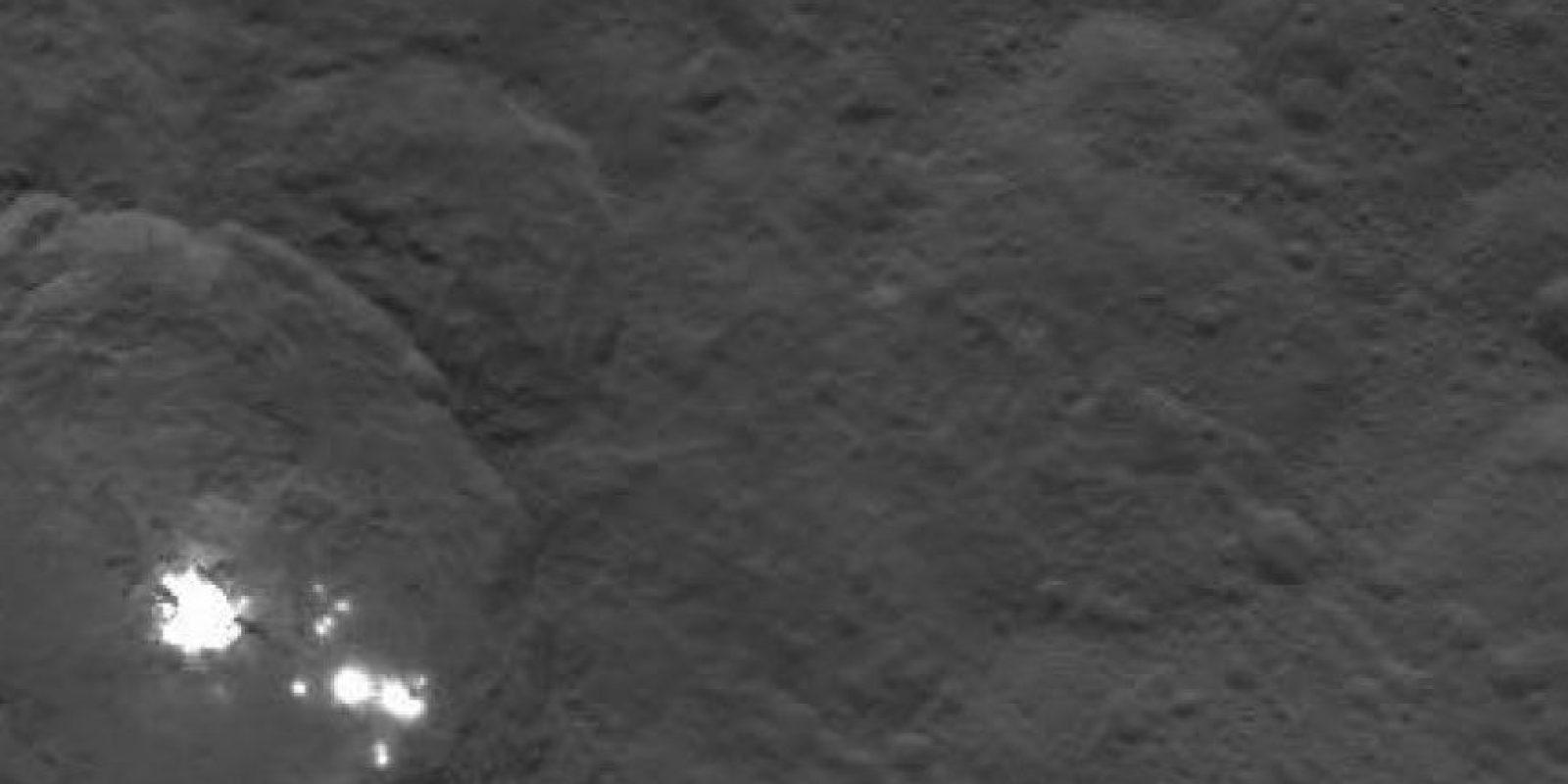 Estos son los puntos brillantes de Ceres Foto:Twitter.com/nasa_dawn