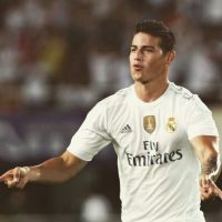 Festejando un gol con el Real Madrid. Foto:instagram.com/jamesrodriguez10