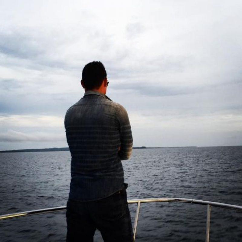 Mientras disfruta de la vista. Foto:instagram.com/jamesrodriguez10