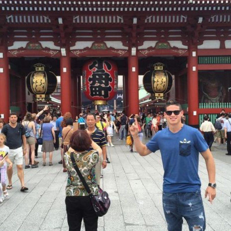 Su foto en Tokio, Japón. Foto:instagram.com/jamesrodriguez10