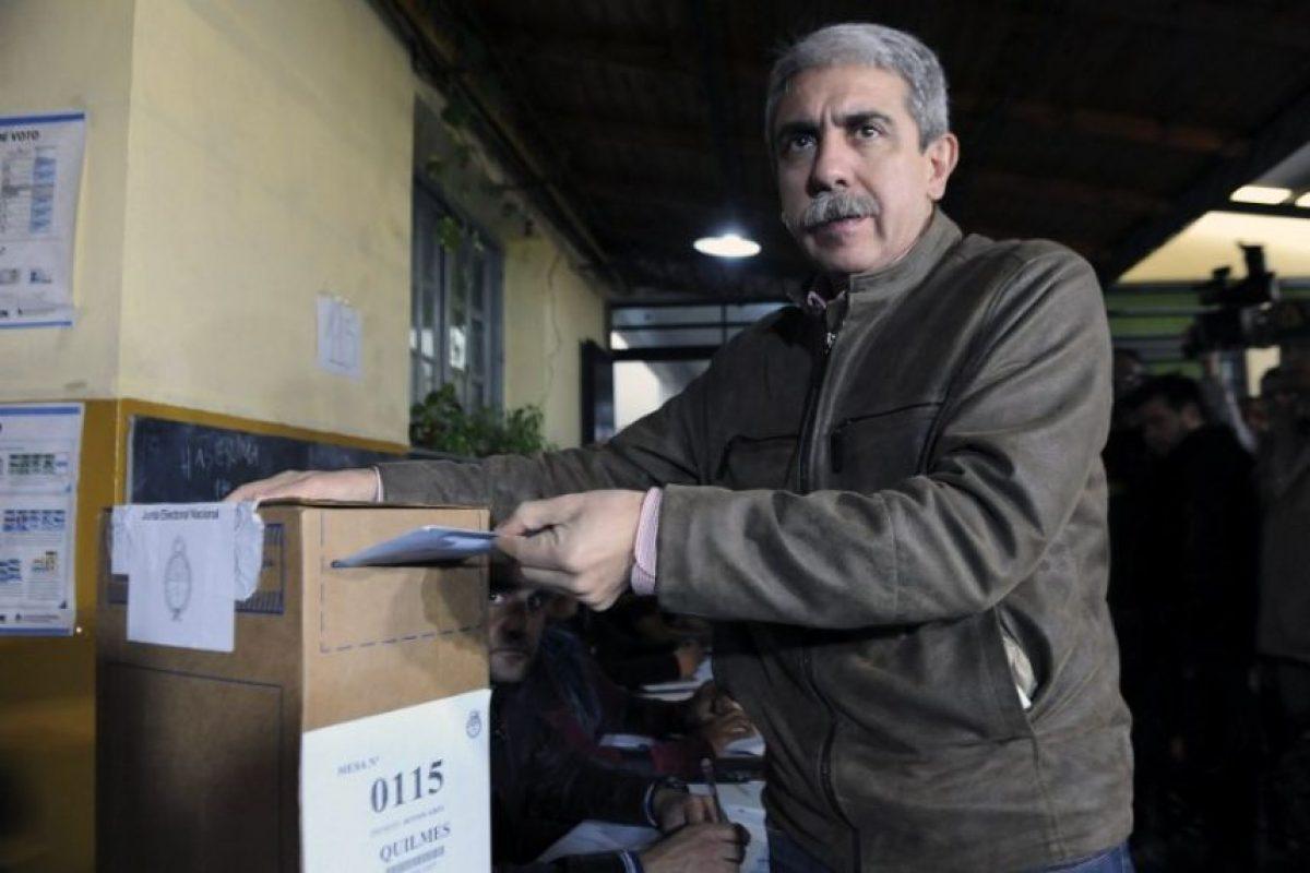 Aníbal Fernández, jefe del Gabinete y candidato a gobernador de Buenos Aires Foto:AFP