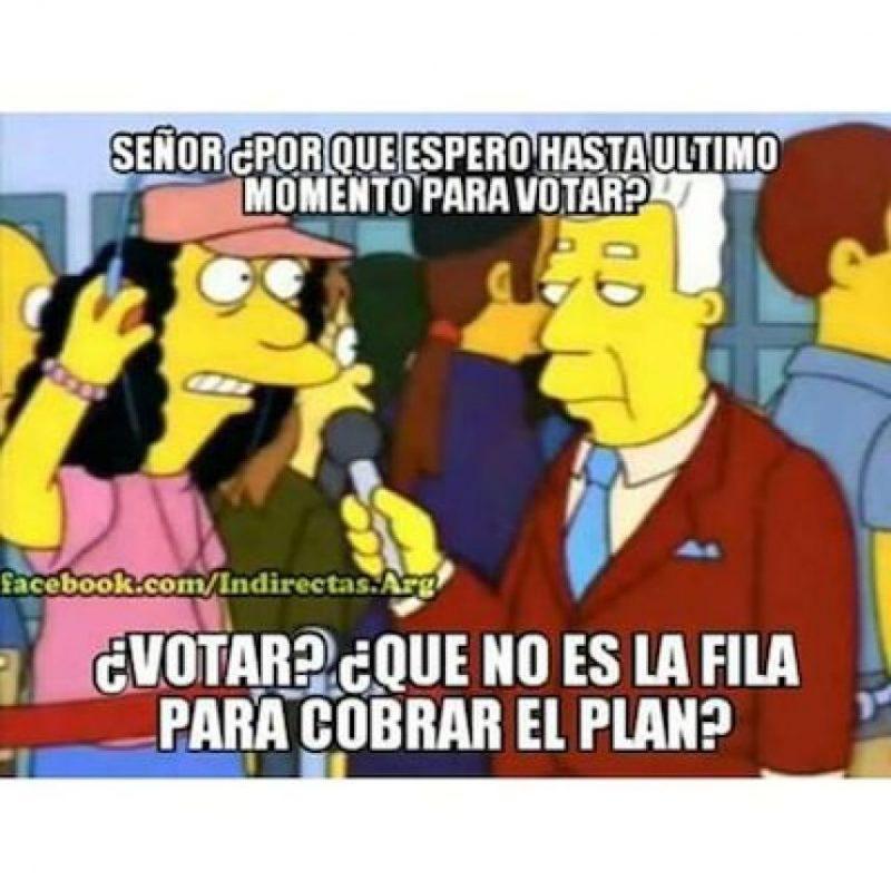 """Otras personas utilizaron escenas de """"Los Simpson"""" para mostrar su sentir Foto:https://instagram.com/explore/tags/elecciones2015/"""