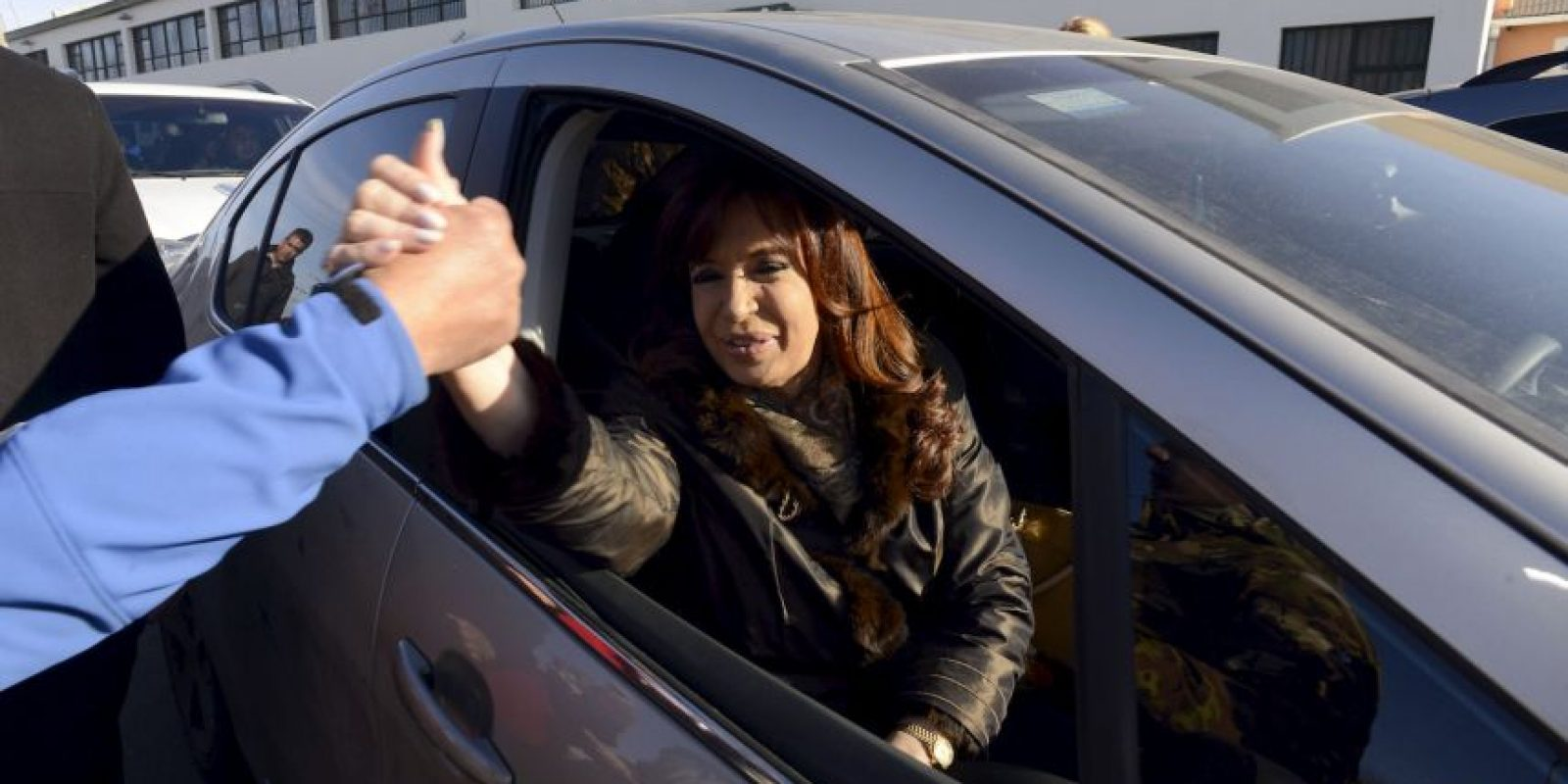 La llegada de la presidenta Cristina Fernández Foto:AP