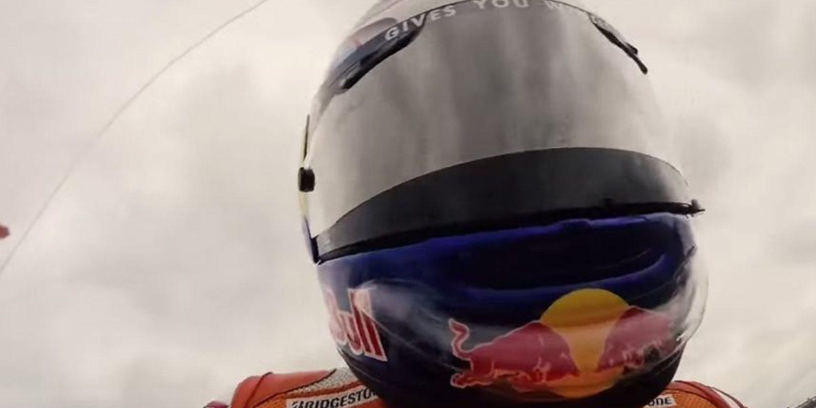 Dani Pedrosa en la moto. Foto:MotoGP