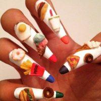 11. Su comida favorita en las uñas Foto:Vía Tumblr