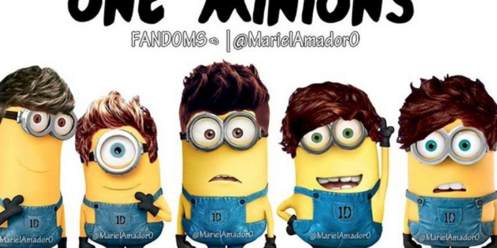 Liam Payne, Niall Horan, Zayn Malik, Harry Styles, Louis Tomlinson. Foto: vía twitter.com/mariel_amador