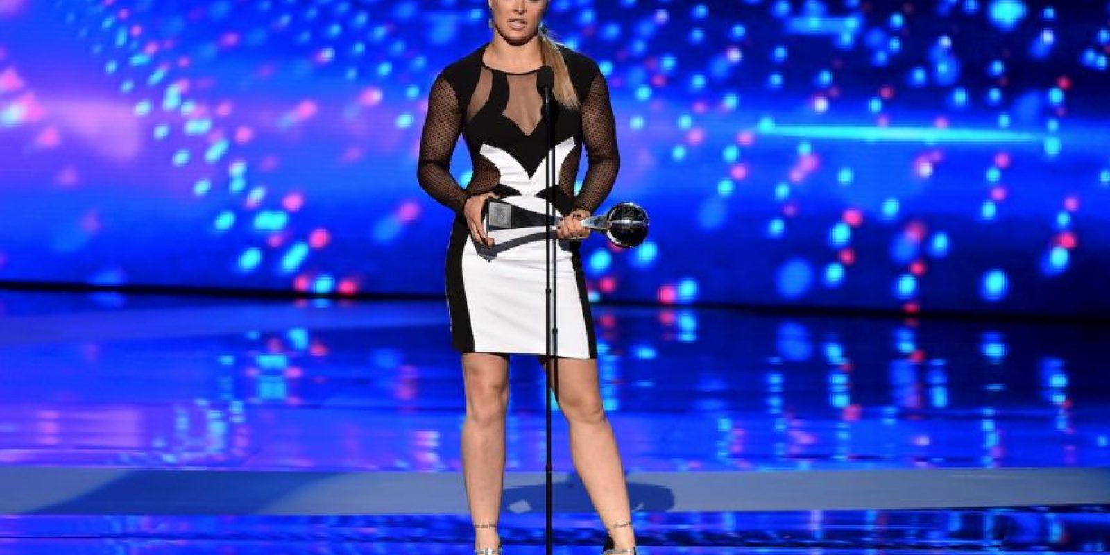 """Todo comenzó cuando Rousey superó a Mayweather en la categoría de """"Mejor Peleador del Año"""" de los Premios ESPYS. Foto:Getty Images"""