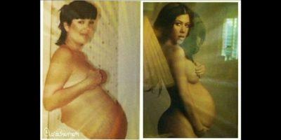 Mientras esperaba la llegada de su tercer bebé, Reign Aston Disick. Foto:vía instagram.com/kourtneykardashian