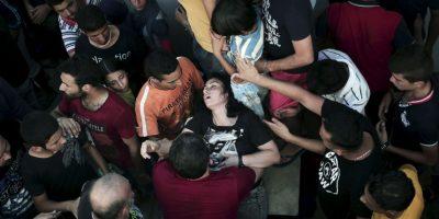 Algunos de los migrantes se desmayaron. Foto:AFP