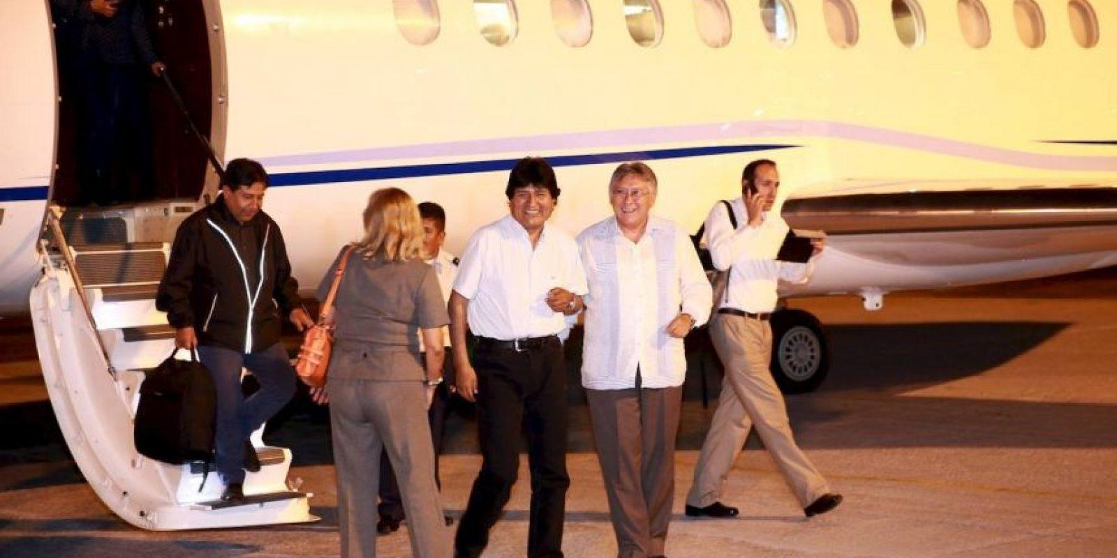 La llegada de Evo Morales Foto:Ministerio de Comunicación de Bolivia
