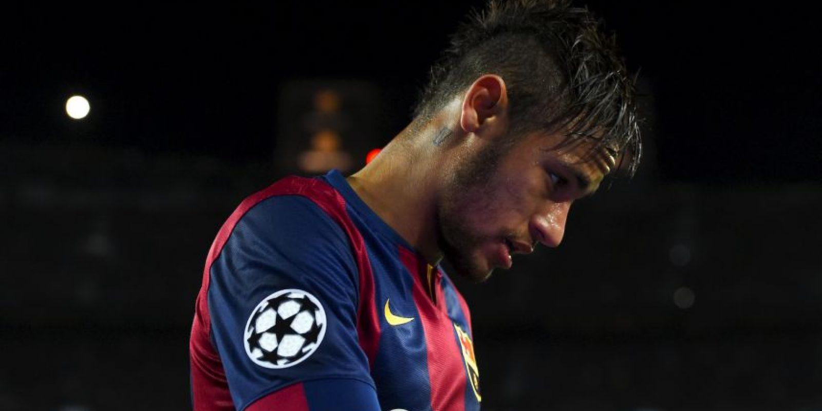 Neymar está de baja por dos semanas porque se contagió de paperas. Foto:Getty Images