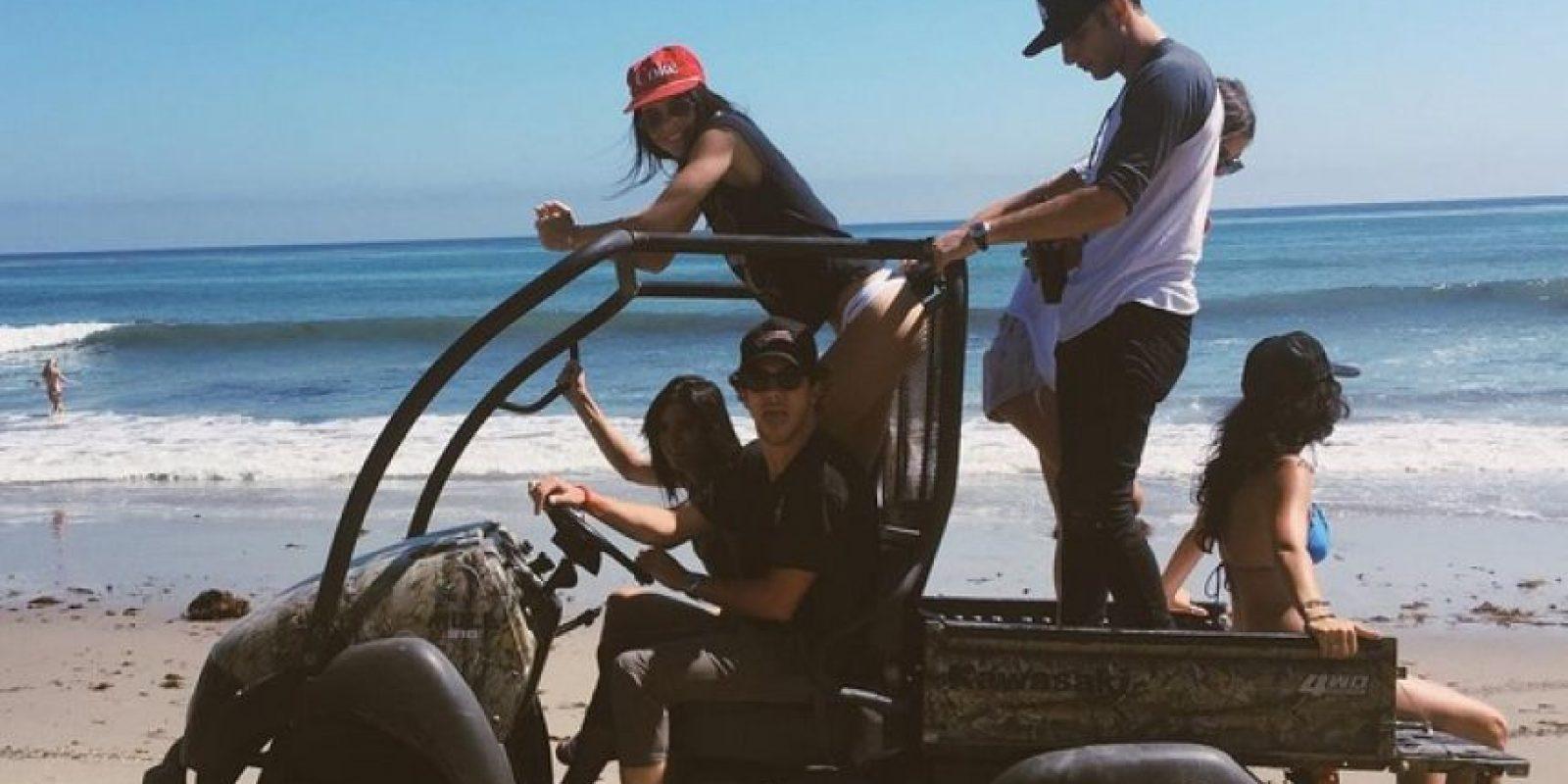 Posteriormte, viajaron a las playas mexicanas para continuar con la celebración Foto:Instagram/kinggoldchains