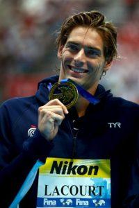 Camille Lacourt será uno de los nadadores que participen en este calendario. Foto:Getty Images