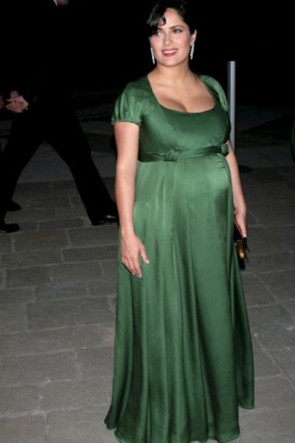 Cuando Salma Hayek dio a luz a su hija, Paloma, la actriz subió de talla Foto:Getty Images