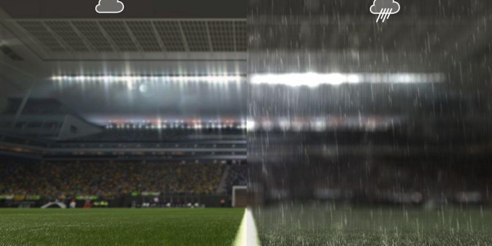 PES 16: Efectos climáticos nuevos y mejorados Foto:Konami