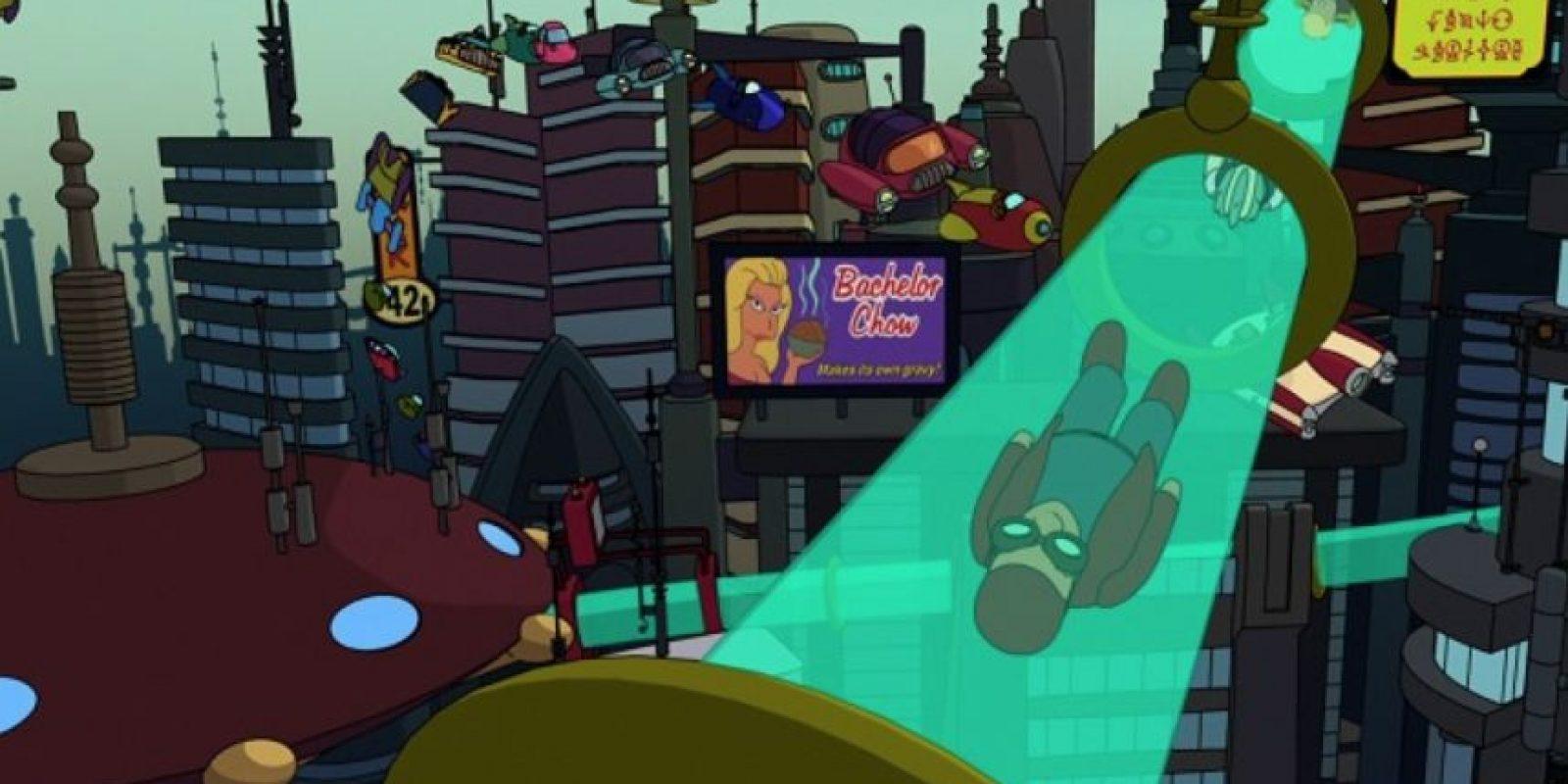 """En """"Futurama"""" las ciudades contaban con este medio de transporte. Foto:vía FOX"""