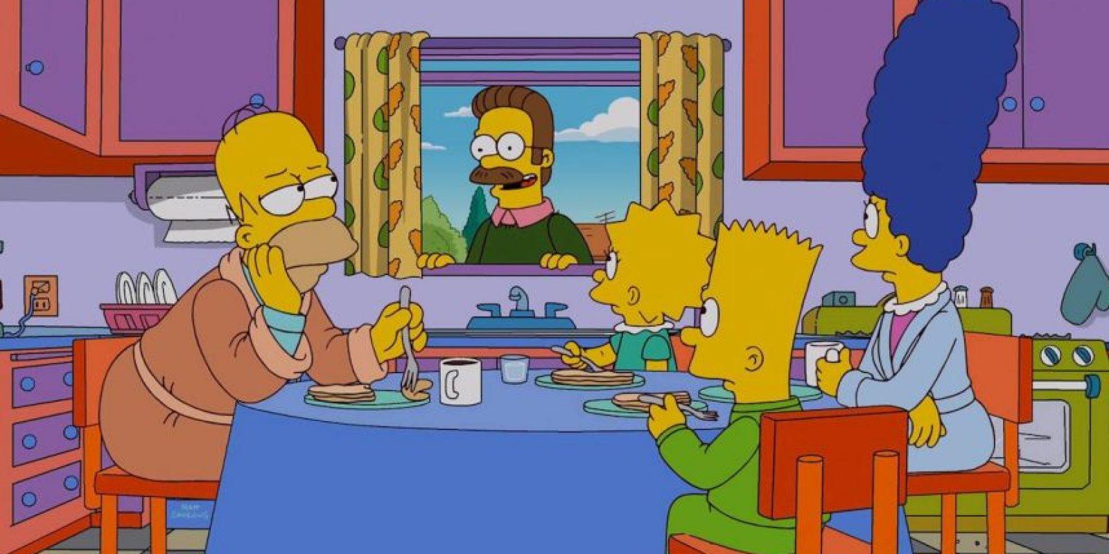 """El vecino de """"Los Simpson"""". Foto:vía facebook.com/TheSimpsons"""