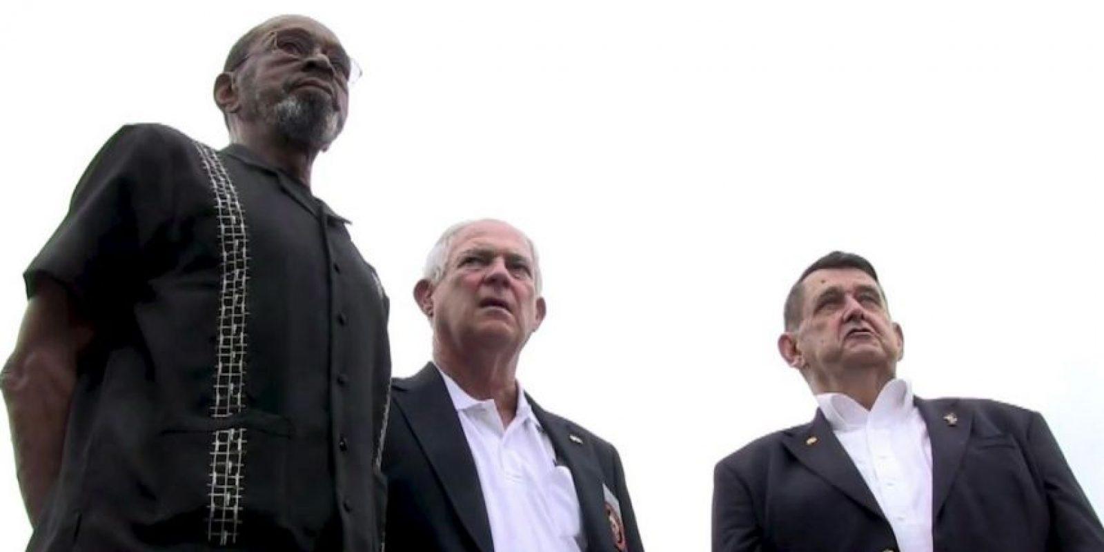 Larry Morris, Mike East y Jim Tracy llegaron a La Habana para la ceremonia del izado del estandarte estadounidense en La Habana Foto:AFP