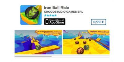 Iron Ball Ride, de Croco Studio, es un juego donde deben mantener una esfera dentro de los extraños laberintos. Precio un dólar Foto:iTunes