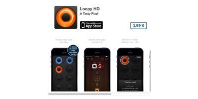 """Loopy HD permite grabar un """"loop"""" repetición de sonido para poder mezclarla y hacer música. Precio 3 dólares Foto:De A Tasty Pixel"""