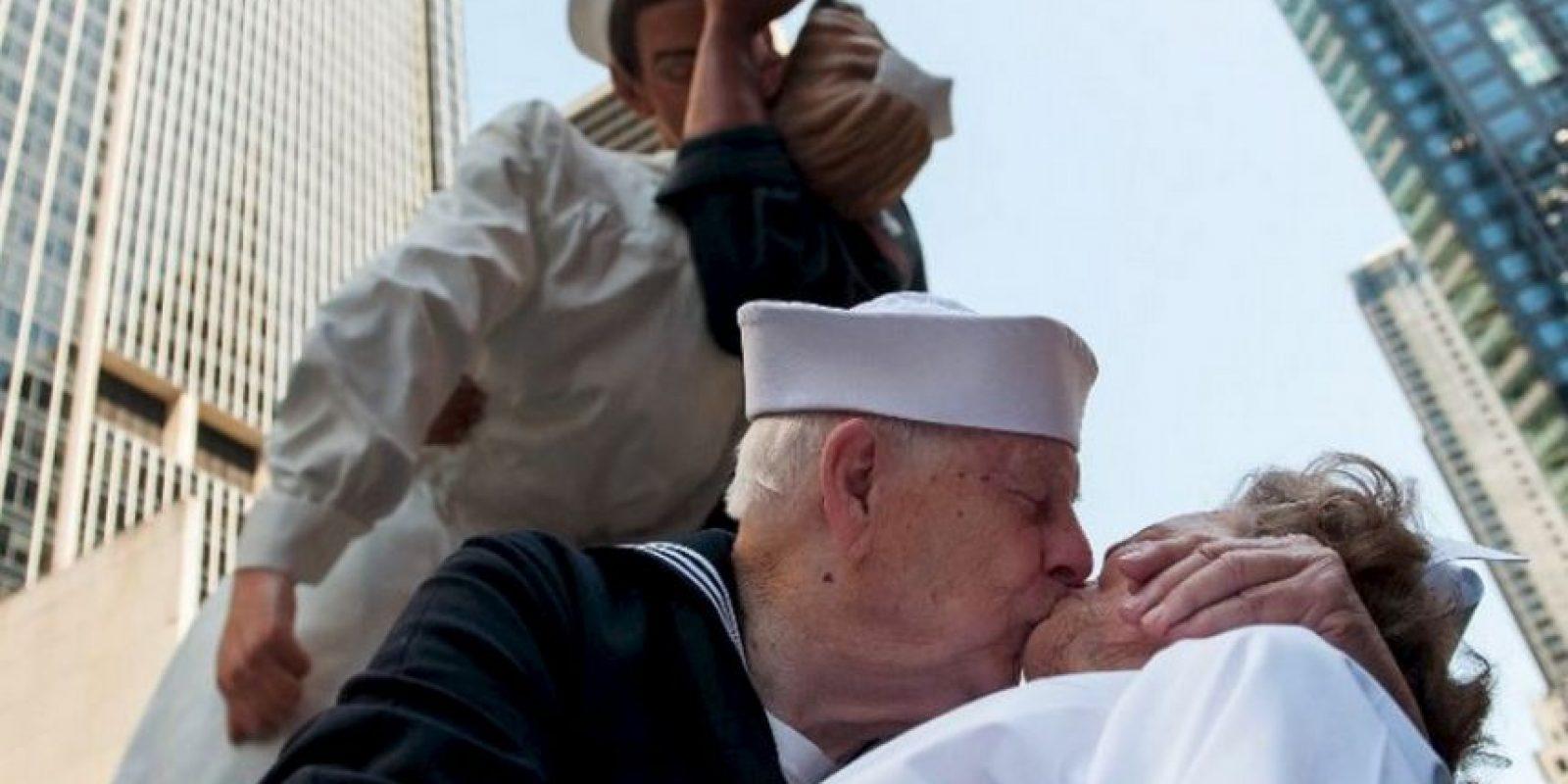 Para recrear este beso Foto:AFP