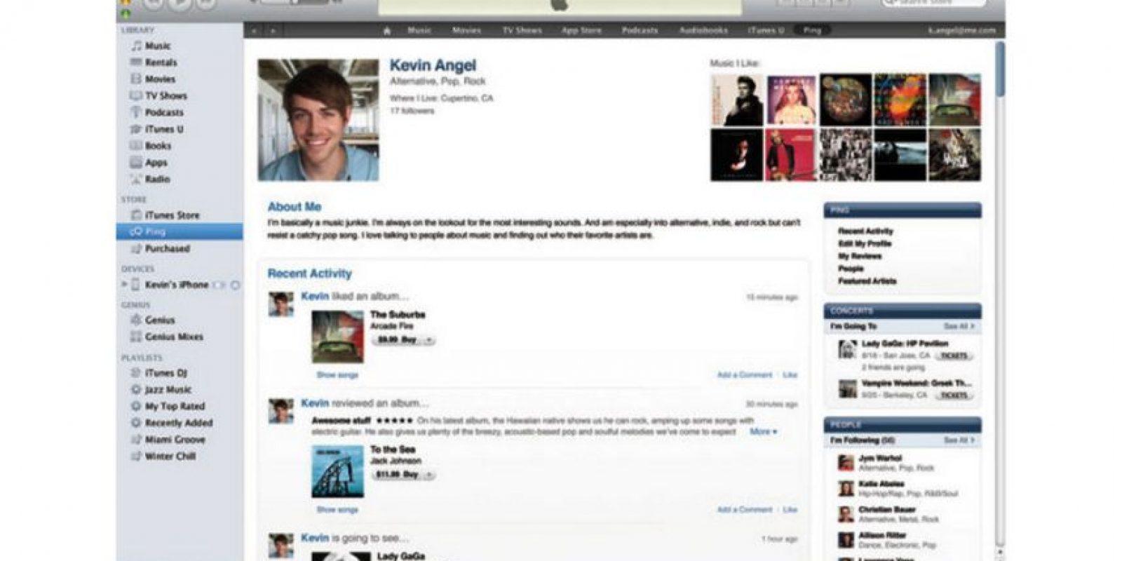 """Consistía en un servicio de recomendación de artistas paralelo a Twitter y Facebook en iTunes. Pero fue un fracaso debido al inmenso """"spam"""" que se filtró. Murió en 2012 cuando se sustituyó con la integración de redes sociales Foto:Apple"""