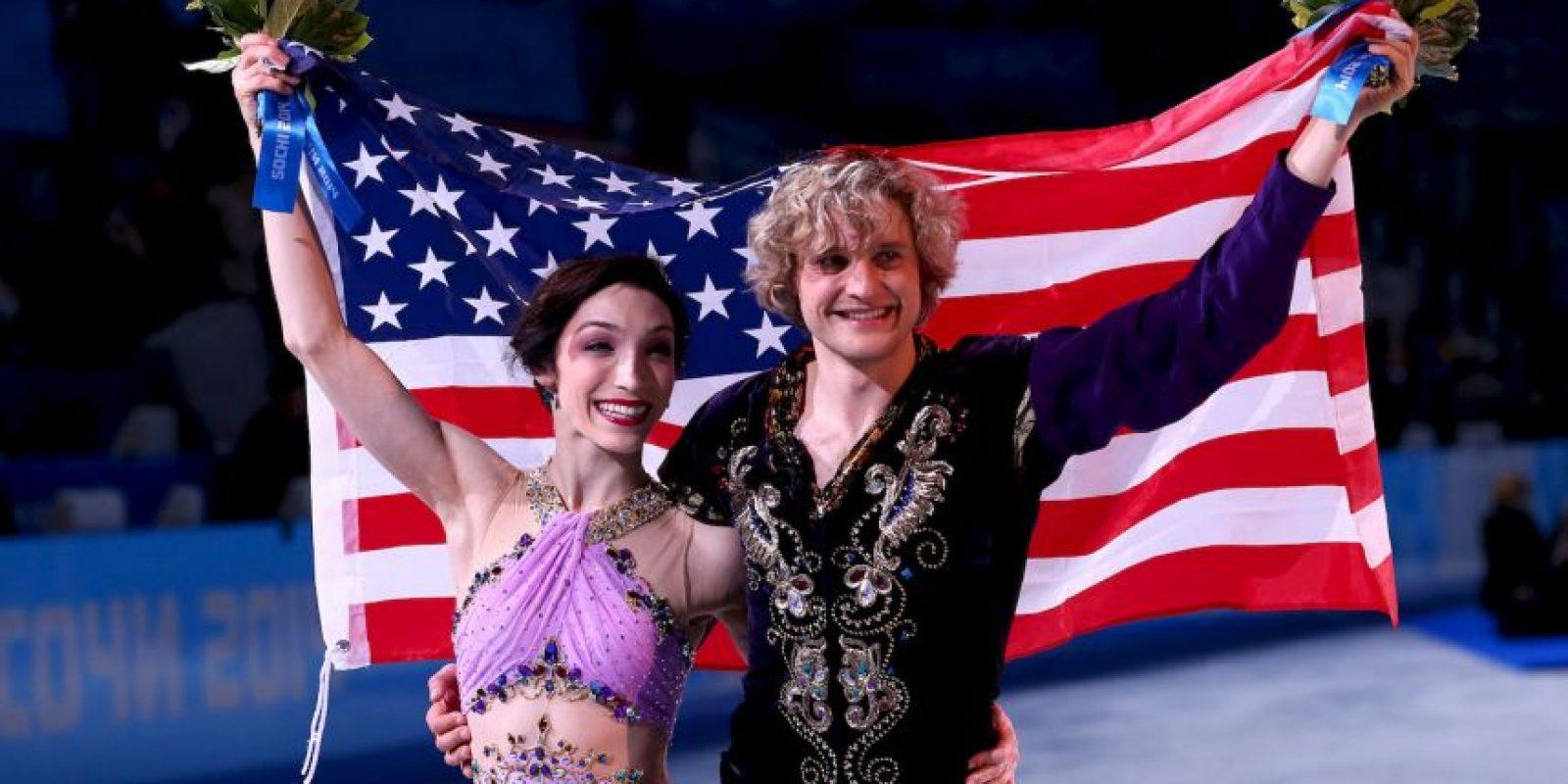 """11. Charlie With y Meryl Davis. La pareja de patinaje sobre hielo ha cumplido muchos deseos a través de la organización """"Make-A-Wish"""" Foto:Getty Images"""