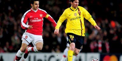 En los cuartos de final de la Champions 2009-2010, los culés igualaron 2-2 con Arsenal, en el Emirates Stadium Foto:Getty Images