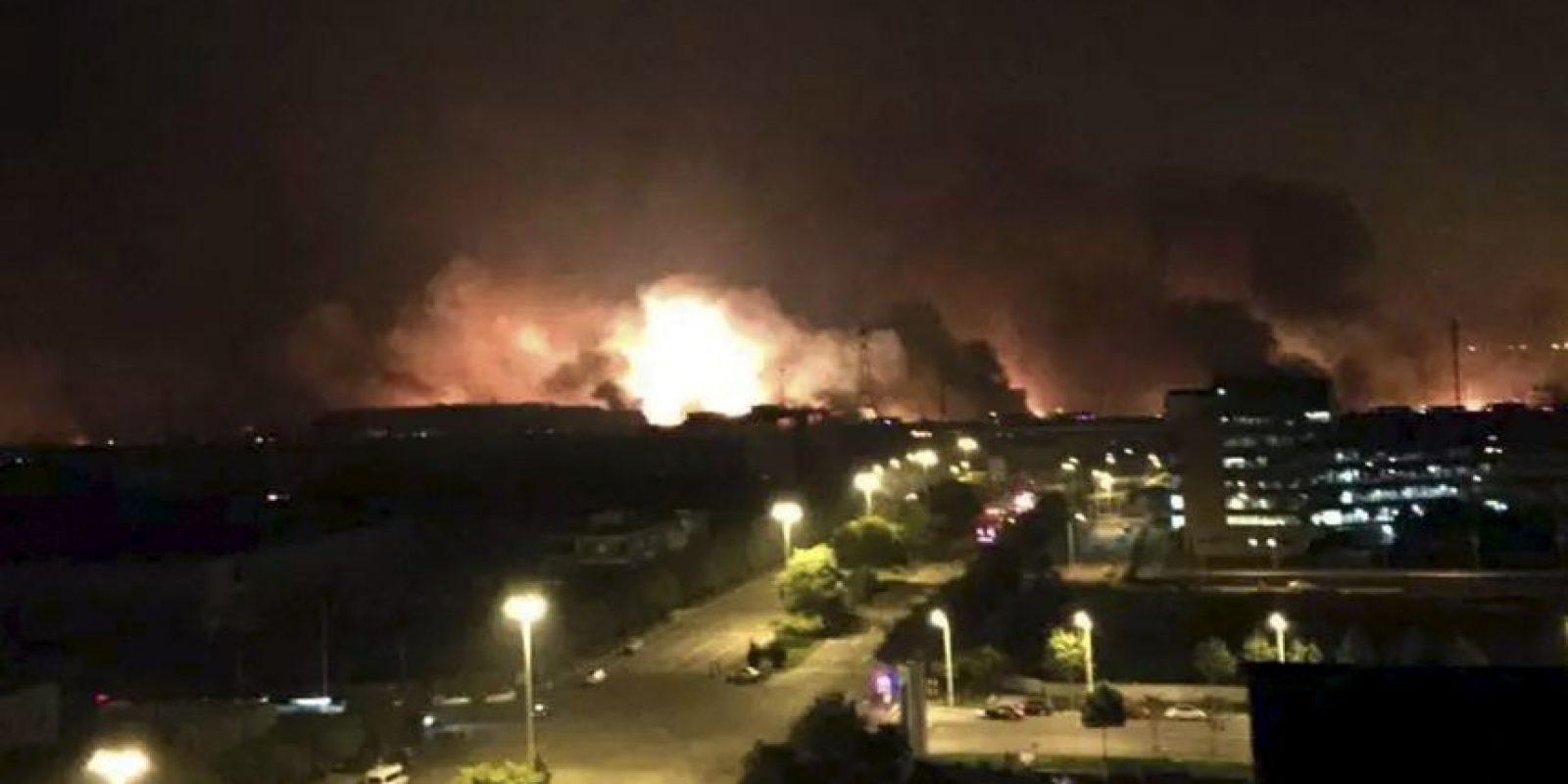La explosión ocurrió la noche del 12 de agosto, en un municipio de China. Foto:AP
