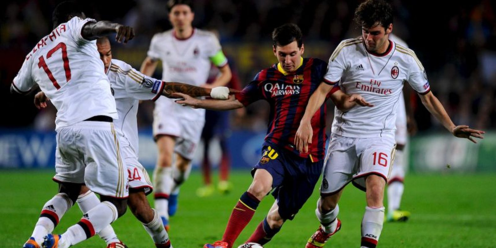 En los octavos de la Champions de la temporada 2012-2013, Barça cayó 2-0 con Milán, en San Siro Foto:Getty Images