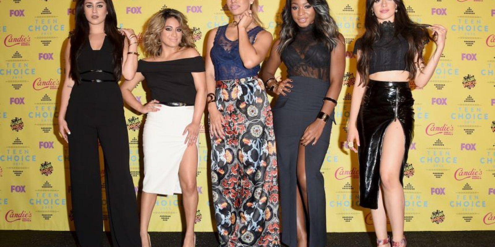 """Las """"Fifth Harmony· fueron las elegidas en los rubros Canción del Verano por """"Worth It"""" Foto:Getty images"""