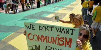 Hubo cerca de 870 mil manifestantes en todo el país Foto:AFP