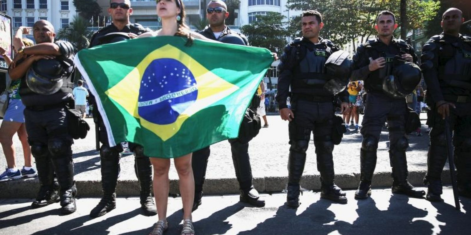 Uno de los vitoreados en las manifestaciones fue Sergio Moro, juez encargado de la investigación de corrupción de Petrobras Foto:Getty Images