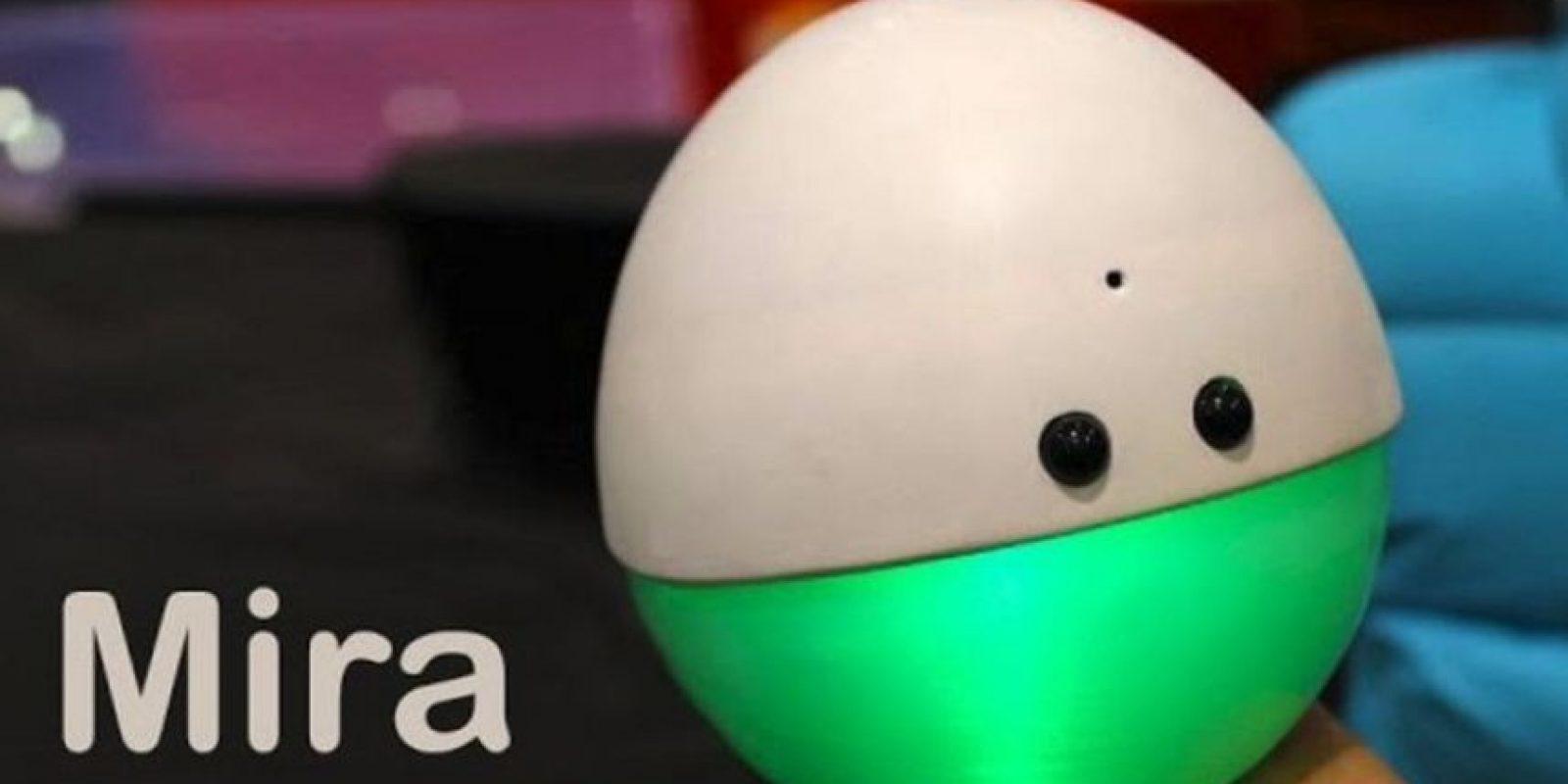 El director técnico de Pixar, el mexicano Alonso Martínez, diseñó y fabricó un simpático robot capaz de reconocer cuando alguien lo está mirando directamente. Foto:Alonso Martínez