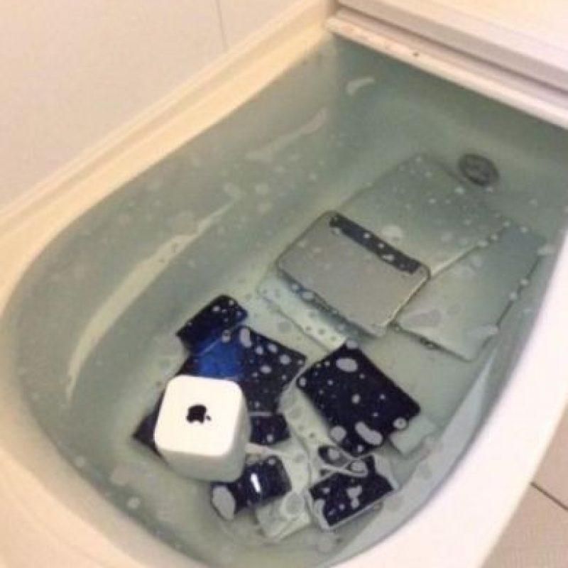 Fuera de eso, para dañarlos aún más, les aplicó jabón líquido. Foto:vía Twitter