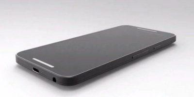 En la parte trasera, debajo de la cámara, el Nexus 5 tendría un sensor biométrico similar al del iPhone, con un anillo metálico en el borde Foto:twitter.com/@OnLeaks