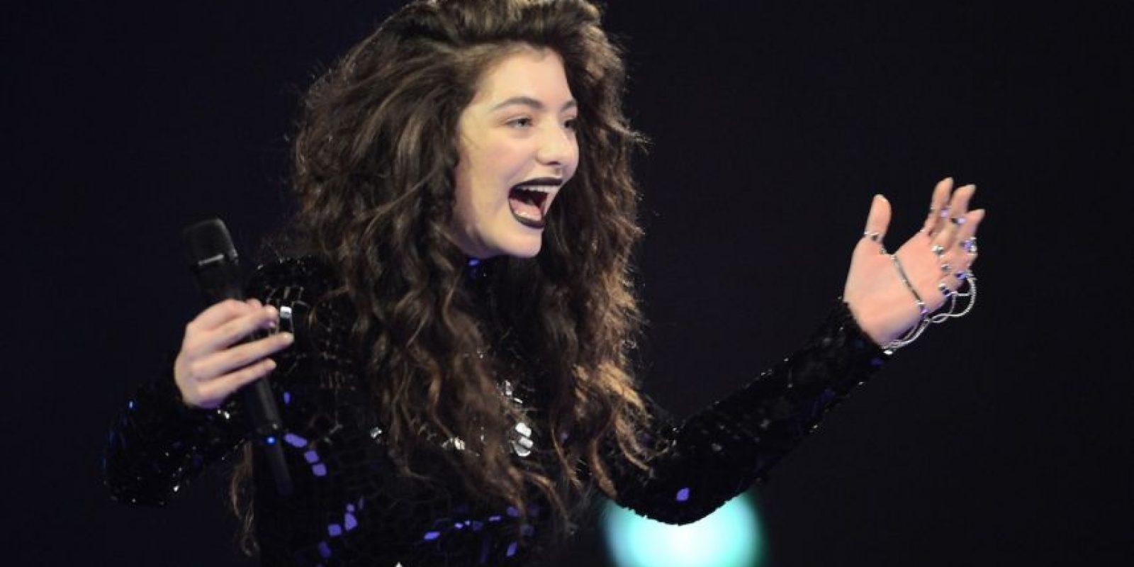 La cantante Ella Maria Lani Yelich-O'Connor, mejor conocida como Lorde, apenas tiene 18 años y ya es una de las artistas favoritas del público. Foto:Getty Images