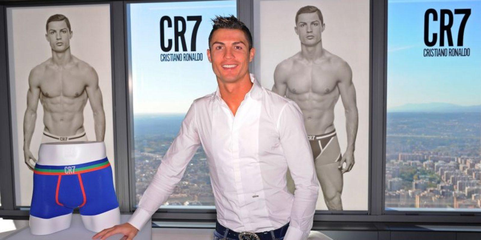 "En 2013 presentó ""CR7 Underwear"". Foto:Getty Images"