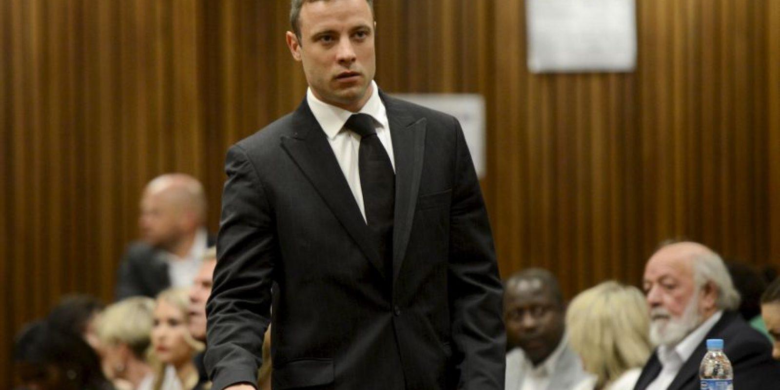El atleta cumpliría el resto de su condena, cinco años, en su domicilio. Foto:Getty Images
